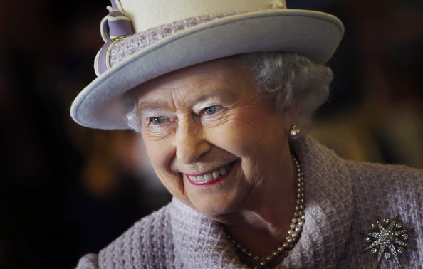 Queen Elizabeth II is seen during a visit to RAF Lossiemouth on her 67th wedding anniversary on November 20, 2014 in Lossiemouth, Scotland. It was the Queen's first visit to the base since 2003.