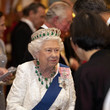 Queen Elizabeth II Royals Attend A Reception For The Diplomatic Corps At Buckingham Palace