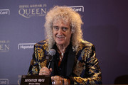 Brian May of Queen attends the press conference ahead of the Rhapsody Tour at Conrad Hotel on January 16, 2020 in Seoul, South Korea. The band Queen is in Seoul for their Asian leg of 'Rhapsody' tour, and is scheduled to perform on January 16 and 18 joined by Adam Lambert.