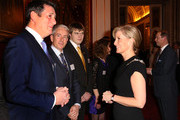 Sophie, Countess of Wessex meets singer Tony Hadley (L), Vice President of Shooting Star Chase during a reception to celebrate the patronages & affiliations of the Earl and Countess of Wessex hosted by Queen Elizabeth II at Buckingham Palace on February 10, 2015 in London, England