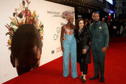 Actress Lupita Nyong'o, director Mira Nair and actor David Oyelowo attend the 'Queen Of Katwe' Virgin Atlantic Gala screening during the 60th BFI London Film Festival at Odeon Leicester Square on October 9, 2016 in London, England.