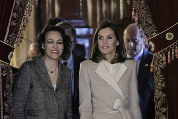 Queen Letizia Queen Letizia Of Spain Attends The 40th Anniversary Of The Public Service of Sate Employment