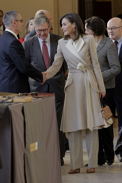 Queen Letizia Of Spain Attends The 40th Anniversary Of The Public Service of Sate Employment