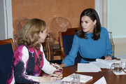 Queen Letizia of Spain Attends 'Microfinanzas BBVA' Foundation debate