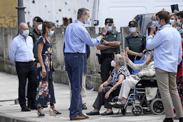 Queen Letizia of Spain King Felipe of Spain Spanish Royals On Tour - Cantabria
