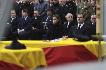 Queen Letizia of Spain King Felipe of Spain Spanish Royals Attend State Funeral Held For Two Policemen Killed in Kabul