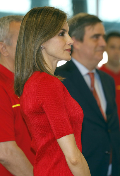 King Felipe VI of Spain and Queen Letizia of Spain Attend the Spanish Olympic Team Farewel