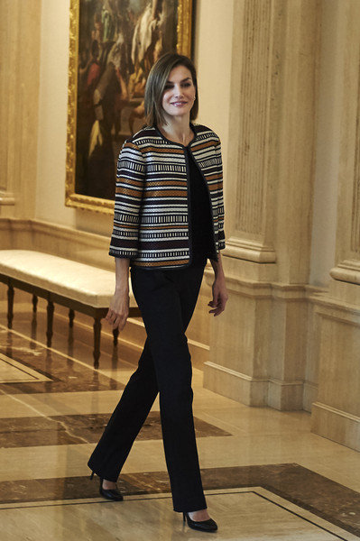 Queen Letizia of Spain Attends a Council Meeting With Royal Board on Disability