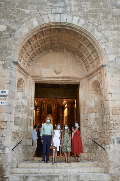 Spanish Royals Visit Casa Natal And Fray Junipero Serra's Museum [holy places,arch,architecture,wall,building,tourism,history,stock photography,ancient history,historic site,junipero serra,felipe vi,royals,letizia,sofia of spain,leonor,casa natal,spain,museum,spanish,ancient history,stock photography,historic site,history,facade,wall,photography,tourism,window,worship]