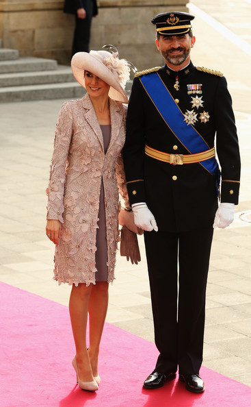 The Wedding Of Prince Guillaume Of Luxembourg & Stephanie de Lannoy - Official Ceremony [guillaume of luxembourg stephanie de lannoy - official ceremony,felipe,letizia,stephanie,belgian countess,prince,suit,fashion,standing,formal wear,flooring,outerwear,official,tradition,carpet,gentleman,luxembourg,spain,wedding,wedding ceremony]