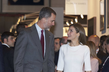 Queen Letizia of Spain Spanish Royals and President Mauricio Macri Attend ARCO Opening
