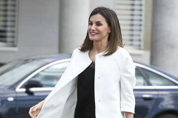 Queen Letizia of Spain Queen Letizia Visits UME Military Center