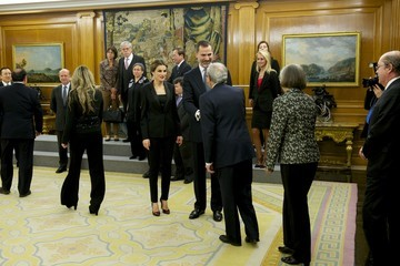 Queen Letizia of Spain Spanish Royals Attend an Audience