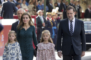Queen Letizia of Spain Spanish Royals Attend National Day Military Parade 2014