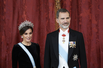 Queen Letizia of Spain Spanish Royals Host A Dinner Gala For Chinese President Xi Jinping