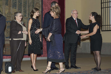 Queen Letizia of Spain Spanish Royals Host Honor Reception for Israel President