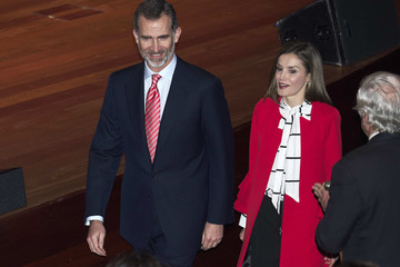 Queen Letizia of Spain Spanish Royals Deliver Acreditations to the New Spain Brand Honorary Ambassadors