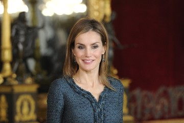 Queen Letizia of Spain Spain's National Day Royal Reception in Madrid