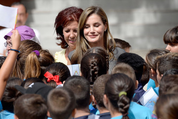 Queen Letizia of Spain Spanish Royals Open the Scholarship Course in Canary Islands