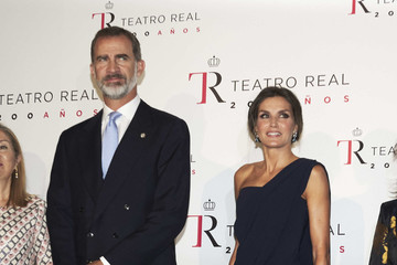 Queen Letizia of Spain Spanish Royals Attend 'Fausto' At The Royal Theatre