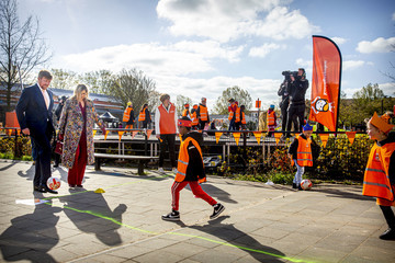 Queen Máxima King Willem-Alexander Of The Netherlands And Queen Maxima attend Kingsday Games In Amersfoort