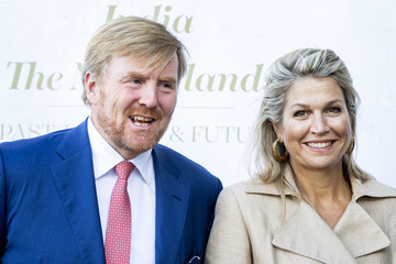 Queen Máxima King Willem-Alexander Of The Nederlands And Queen Maxima Visit The Seminar & Exhibition India At Rijksmuseum In Amsterdam
