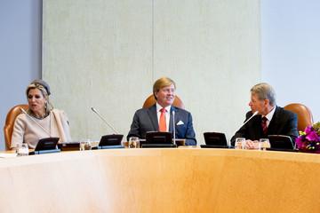 Queen Máxima King Willem Alexander Of The Netherlands And Queen Maxima Of The Netherlands Visit Council Of State