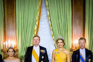 Queen Maxima King And Queen Of The Netherlands Visit Luxembourg: Day One