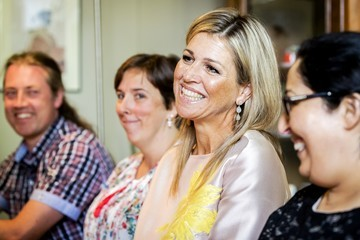 Queen Maxima Queen Maxima Attends a Charity Event