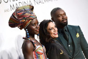 (L-R) Lupita Nyong'o, director Mira Nair and David Oyelowo attend the Gala Screening of Disney's 'Queen Of Katwe' during the 60th BFI London Film Festival at Odeon Leicester Square on October 9, 2016 in London, England.