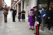 Queen Elizabeth II leaves after opening the new premises of the Royal National ENT and Eastman Dental Hospital on February 19, 2020 in London, England.