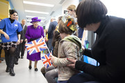 Queen Elizabeth II opens the new premises of the Royal National ENT and Eastman Dental Hospital on February 19, 2020 in London, England.