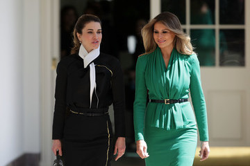 Queen Rania Trump Holds Joint Press Conf. With King Abdullah II Of Jordan At White House