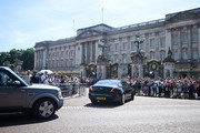Prime Minister Theresa May arrives at Buckingham Palace on July 24, 2019 in London, England. The British monarch remains politically neutral and the incoming Prime Minister visits the Palace to satisfy the Queen that they can form her government by being able to command a majority, holding the greater number of seats, in Parliament.  Then the Court Circular records that a new Prime Minister has been appointed.