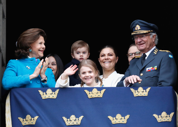 Swedish King's Birthday [king,silvia,princess,estelle,oscar,victoria,daniel,uniform,event,team,military officer,photography,girl scouts of the usa,air force,gesture,crew,child,sweden,swedish,birthday]