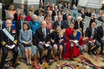 Queen Silvia Christening of Prince Gabriel of Sweden