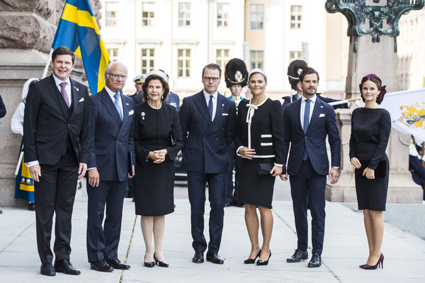 Swedish Royals Attend The Opening Of The Parliamentary Session [social group,event,white-collar worker,uniform,suit,businessperson,team,official,formal wear,tourism,royals,carl xvi gustaf of sweden,victoria,carl philip of sweden,silvia,daniel,sofia,sweden,swedish,the opening of the parliamentary session]