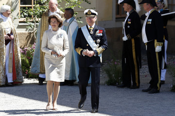 Queen Silvia Christening  Of Princess Adrienne Of Sweden