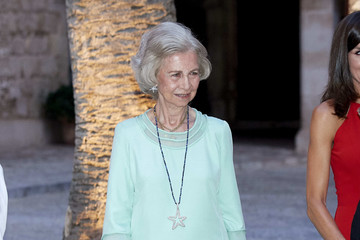 Queen Sofia Spanish Royals Host A Dinner For Authorities In Palma De Mallorca