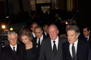 Queen Sofia Alfonso Diez Spanish Royals Attend a Funeral Service