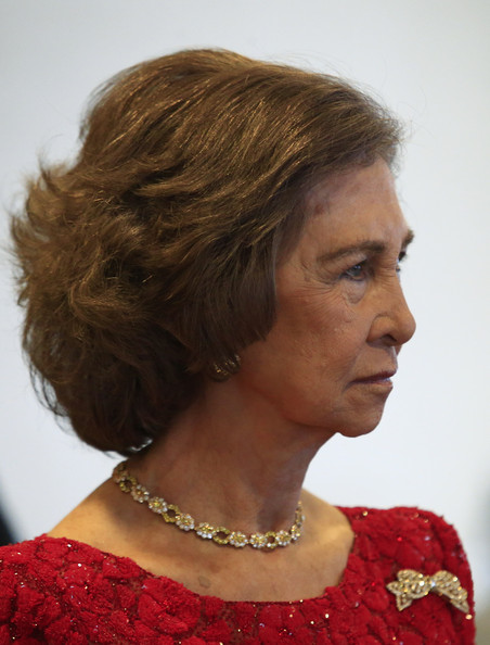 Spain's Queen Sofia Attends Path To Peace Presentation Ceremony In New York [hair,hairstyle,face,chin,forehead,neck,bob cut,brown hair,layered hair,long hair,sofia,individuals,award,path to peace,recognition,peace,development,spain,united nations,queen sofia attends path to peace presentation ceremony in new york]