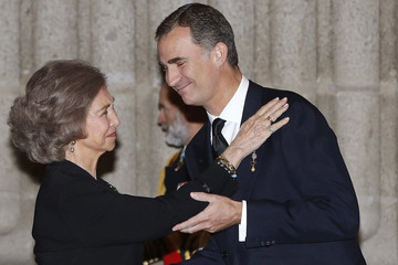 Queen Sofia Spanish Royals Attend Corpore Insepulto Mass For Carlos de Borbon dos Sicilias