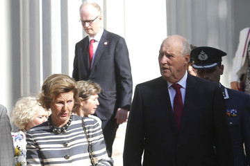 Queen Sonja Norwegian King Harald V And Queen Sonja Visit Chile - Day 2