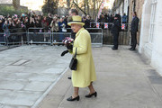 Queen Elizabeth II departs Goodenough College after a visit on December 1, 2016 in London, England.  Goodenough College is the leading residential community for British and international postgraduate students studying in London.