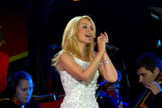 Kylie Minogue Performs During Queen Elizabeth IIs 90th Birthday Celebrations At Home Park Windsor On