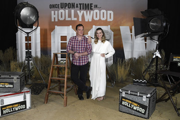 Quentin Tarantino Margot Robbie Photo Call For Columbia Pictures' 'Once Upon A Time In Hollywood'