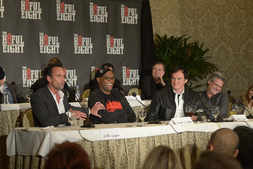 Quentin Tarantino Samuel L. Jackson 'The Hateful Eight' Press Conference
