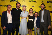 (L-R) Producer Brad Fuller, director John Kransinski, actors Emily Blunt, Millicent Simmonds, Noah Jupe and producer Andrew Form attend the Opening Night Screening and World Premiere of 'A Quiet Place' during the 2018 SXSW Film Festival on March 9, 2018 in Austin, Texas.