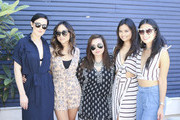 (L-R) Rumer Willis, Anna Tran, Charina Scott, Alyssa Rara and Raissa Gerona attend the Austin Style Brunch hosted by REVOLVE, Who What Wear and Ciroc at Josephine House on March 14, 2016 in Austin, Texas.