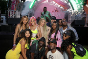 Winnie Harlow, Jasmine Sanders, 2 Chainz and guests attend #REVOLVEfestival Day 1 at Merv Griffin Estate on April 13, 2019 in La Quinta, California.